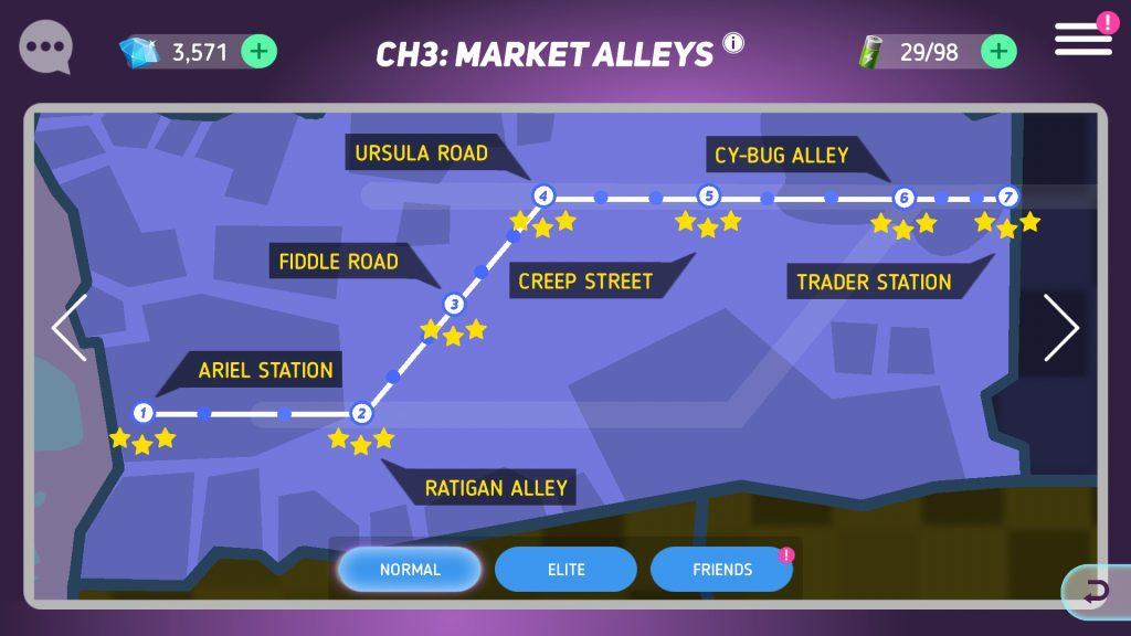 Disney Heroes: Battle Mode Campaign Map