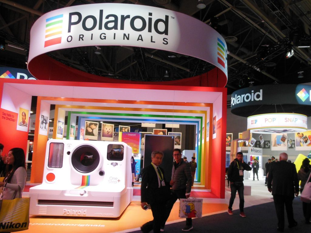 Polaroid Booth in Las Vegas Convention Center Central Hall