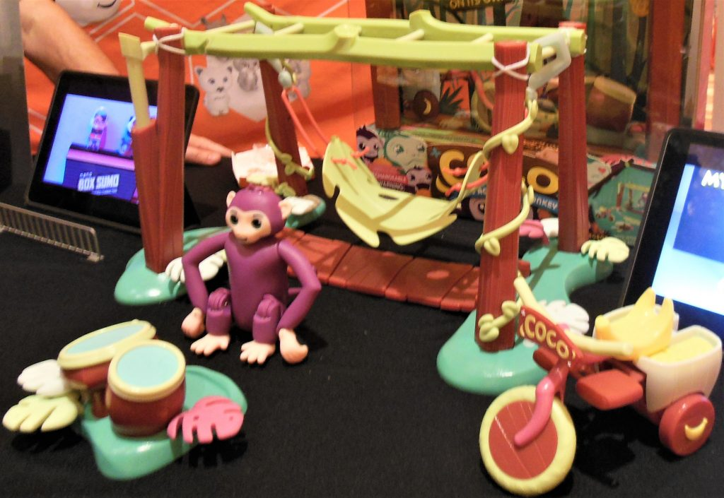 Coco the Acrobatic Monkey with Drums, Swing, and Bike, from HEXBUG
