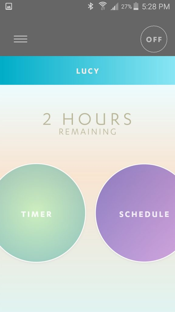 Luci Connect App Main Screen