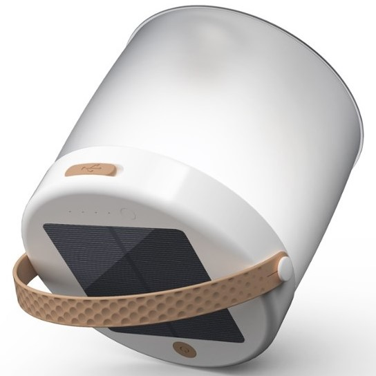 Luci Connect Inflatable LED Lantern Showing Solar Panel