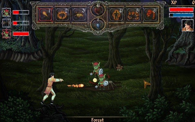Mage's Initiation Goblin and Spider Battle