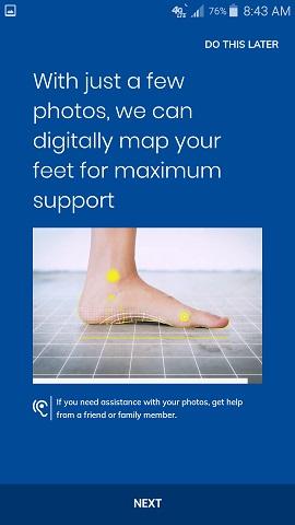 Dr. Scholl's Custom Contour 3D Printed Insoles App Instructions