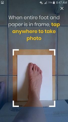 Dr. Scholl's Custom Contour 3D Printed Insoles App Top Foot Photo
