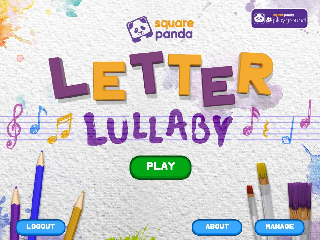 Square Panda Letter Lullaby