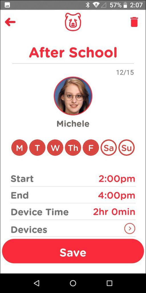 TechDen Parent App Program Session Screen