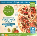 Kroger Simple Truth Organic Greek Style Vegetable Pizza box image