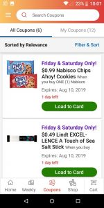 Ralph's App Friday and Saturday Only Coupon List