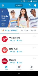 Shopkick App Stores Nearby List