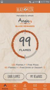 Blaze Pizza App Rewards Tracker