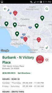 Krispy Kreme App Store Locattions and Hot Now Notice