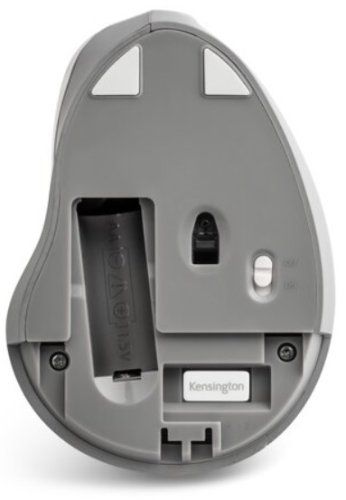 Kensington Pro Fit Ergo Vertical Wireless Mouse Bottom View