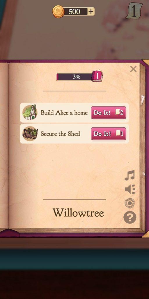 Alice Legends Quest Options