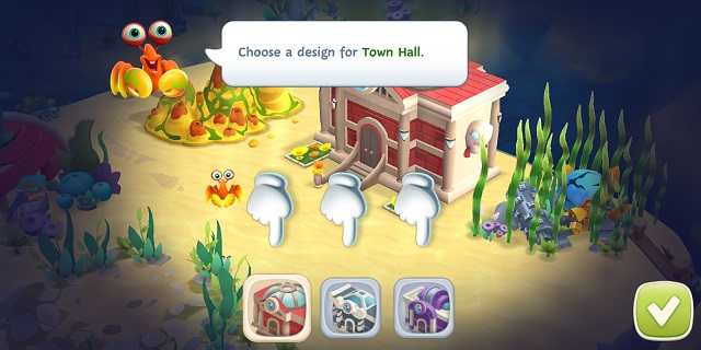 Undersea Solitaire Tripeaks Choose Town Hall Design