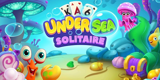 Undersea Solitaire Tripeaks Title Screen