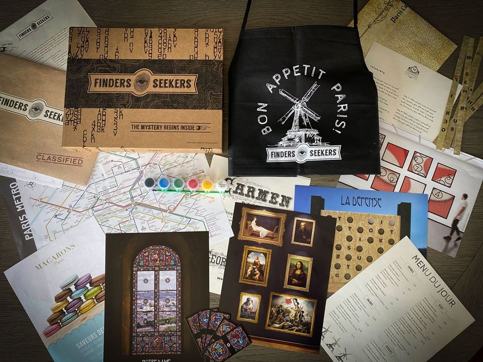 Finders Seekers Paris Box Items