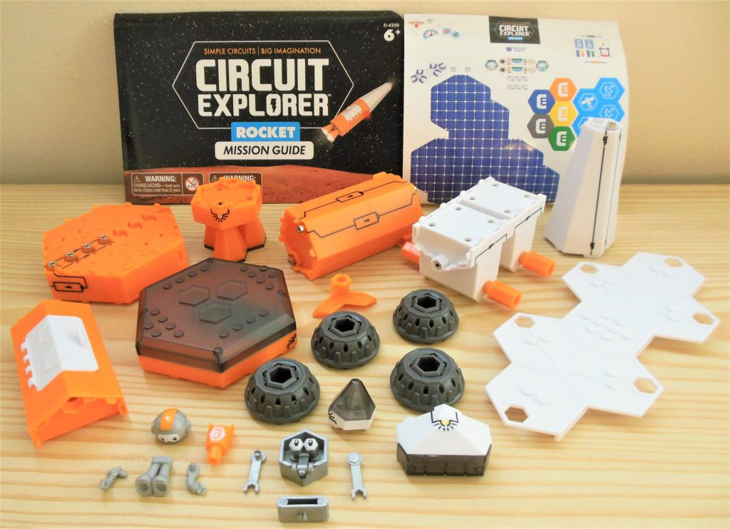 Circuit Explorer Rocket Disassembled Parts