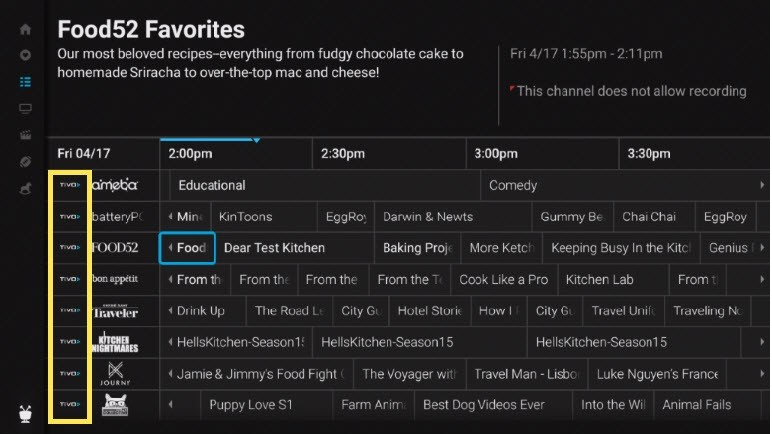 TiVo Stream 4K Guide App Live TV Listings