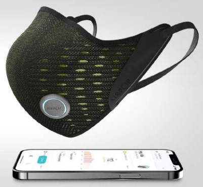 AirPop's Active+ Smart Face Mask with Halo Sensor