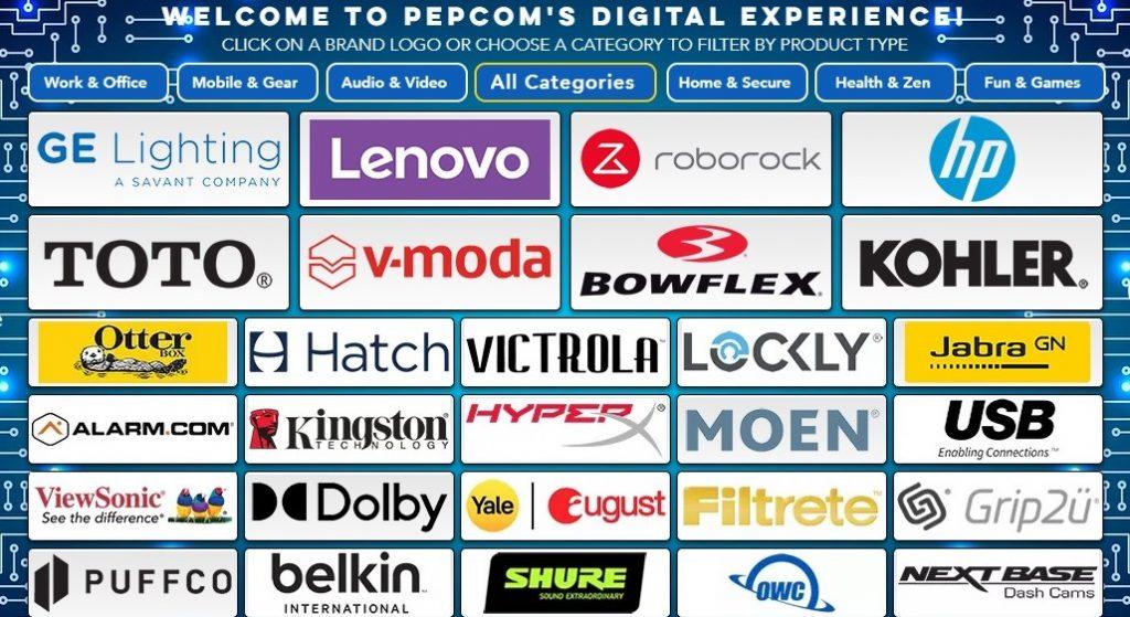 Pepcom's Digital Experience Event User Interface Lobby