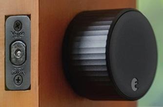 August Wi-Fi Smart Lock in Black