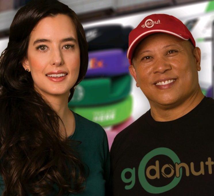 GoDonut founders Nina and Raymond