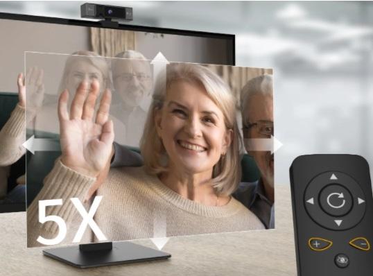 j5create JVCU435 Webcam 5x Digital Zoom and Remote