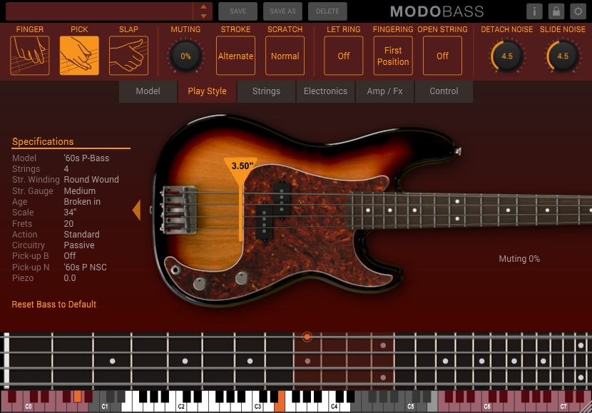 MODO BASS Play Style Controls