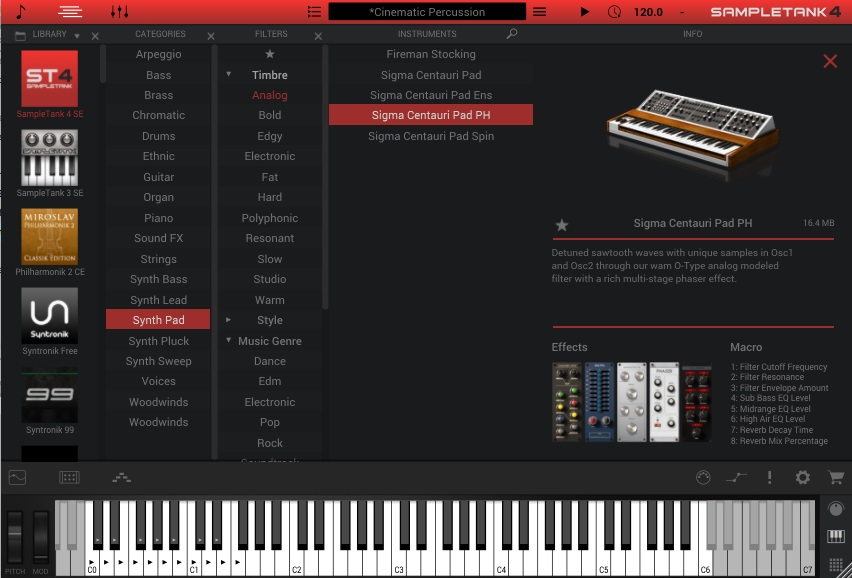 SampleTank 4 Instrument and Sound List
