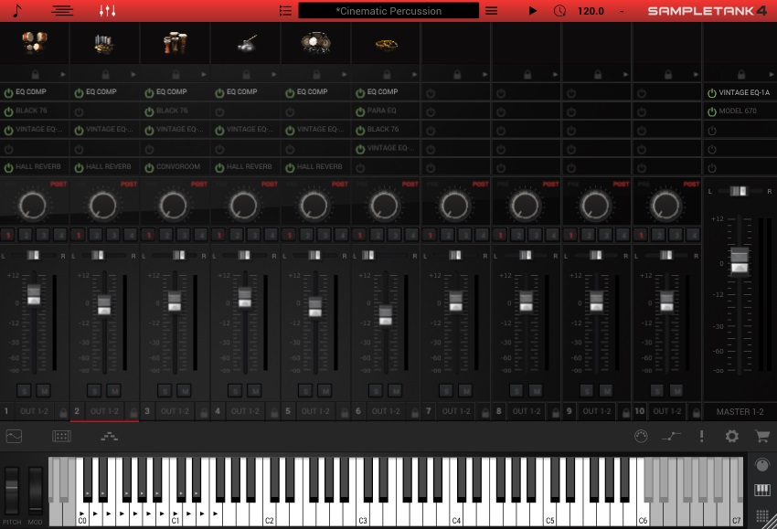 SampleTank 4 Mixing Controls
