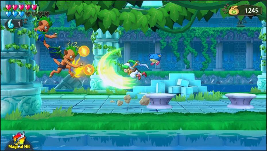 Wonder Boy: Asha in Monster World Battle Screenshot