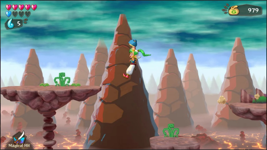 Wonder Boy: Asha in Monster World Flying Screenshot