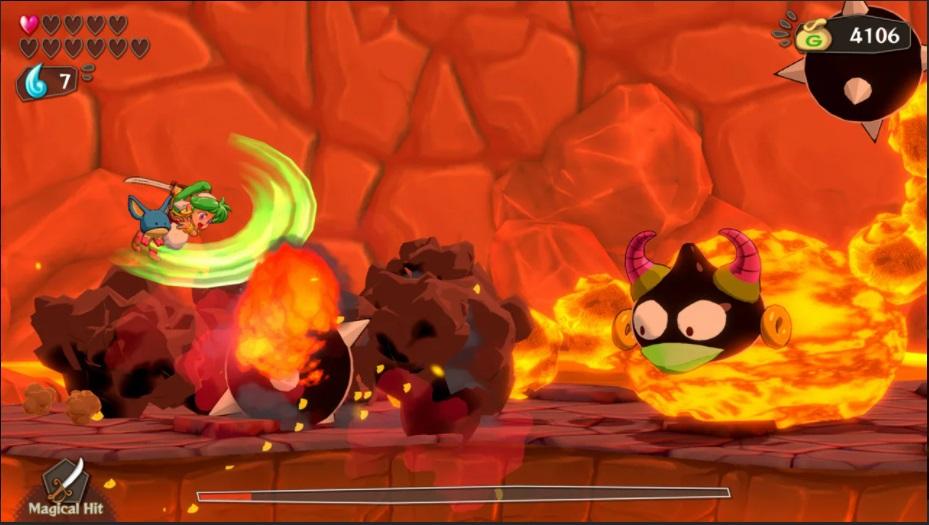 Wonder Boy: Asha in Monster World Volcano Screenshot