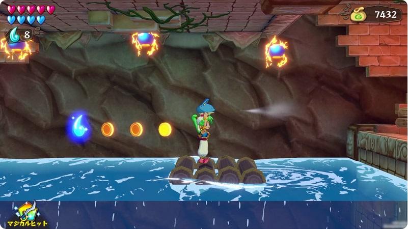 Wonder Boy: Asha in Monster World Rafting Screenshot
