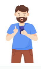 Shows LOTTIE image of man holding smartphone