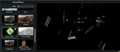 Shows window with Motion Blur effect